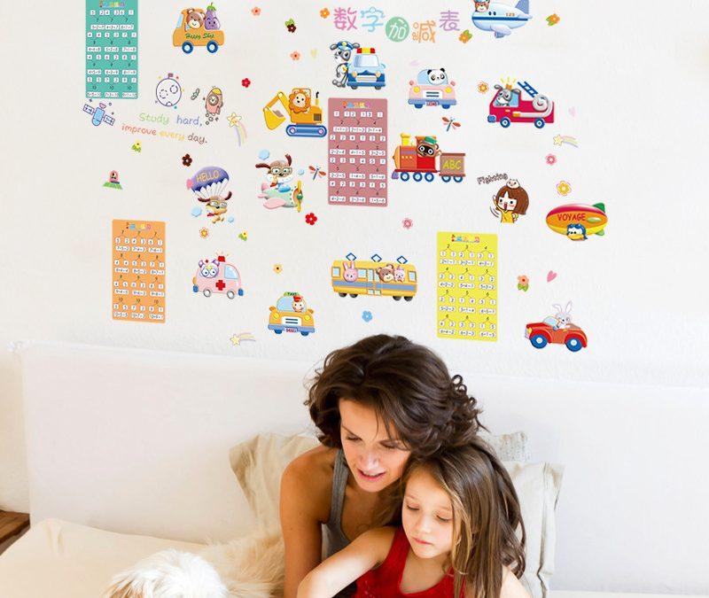 Sfaturi pentru alegerea unui sticker de perete pentru camera copiilor