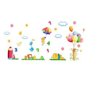 Sticker decorativ Giftify Bebe Cifre cu cifre si baloane