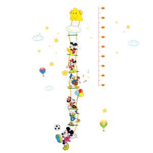 Sticker decorativ masurat inaltime Giftify Metru Mickey cu Mickey Mouse si prietenii Disney