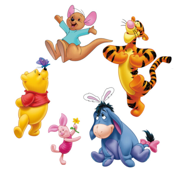 Sticker decorativ Giftify Happy Friends cu Winnie the Pooh si personaje Disney