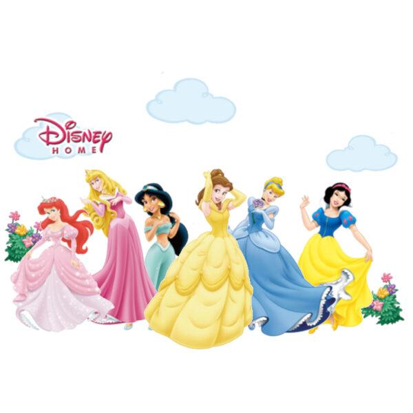 Sticker decorativ cu desene animate Giftify Printese de Basm cu 6 printese Disney