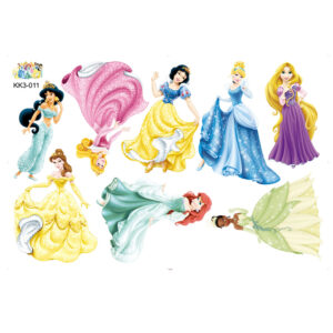 Sticker decorativ cu desene animate Giftify Printese din Povesti cu 8 printese Disney
