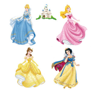 Sticker decorativ Giftify Printese Fermecate cu 4 printese Disney
