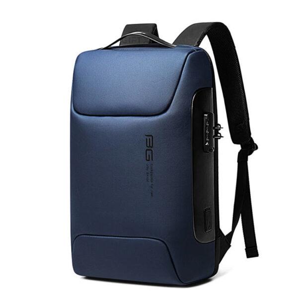 Rucsac antifurt smart GIFTX Urbio Albastru, impermeabil, cu USB si cifru