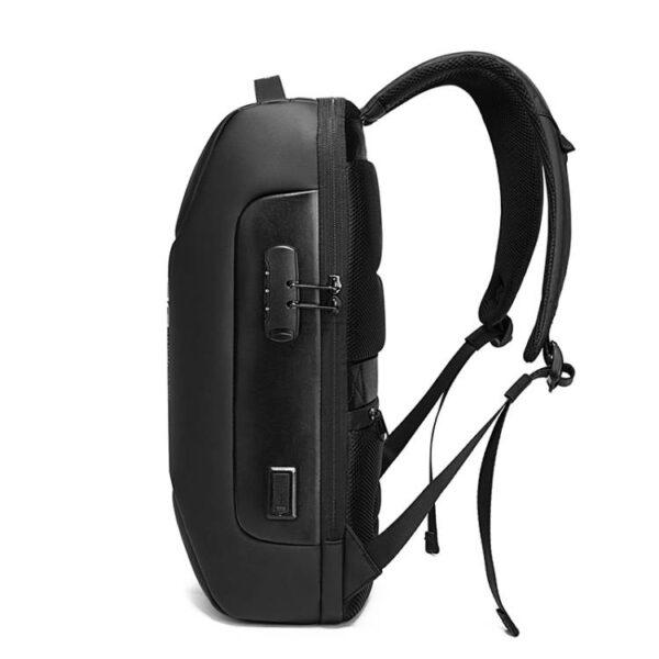 Rucsac antifurt smart GIFTX Urbio Negru, impermeabil, cu USB si cifru